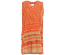 Minikleid aus Baumwoll-jacquard