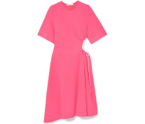 Kleid aus Stretch-crêpe mit Cut-outs