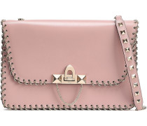 Demilune Small Chain-trimmed Leather Shoulder Bag