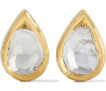 Kundan Vintage 18-karat  Diamond Earrings