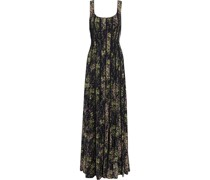Floral-print Crepe De Chine And Georgette Gown