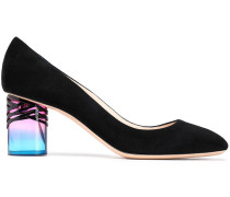 Woman Zaha Suede And Perspex Pumps Black