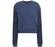 French Cotton-terry And Twill Sweatshirt