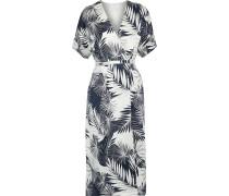 Tavine Printed Washed-silk Midi Wrap Dress