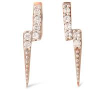 Lightning Bolt rose gold-plated topaz earrings