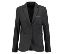 Embellished Wool-blend Blazer Schwarz