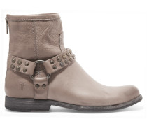 Phillip Studded Leather Ankle Boots Grau