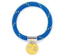 Location Silver-tone, Cord And Enamel Bracelet Blau