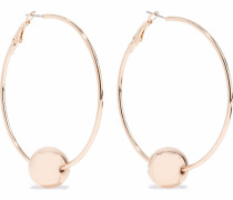 -tone Beaded Hoop Earrings