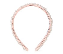 Flora Faux Pearl-embellished Satin Headband