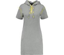 Cotton-jersey hooded mini dress