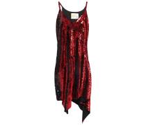 Asymmetrisches Kleid aus Stretch-crêpe mit Pailletten