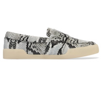 Morgan Snake-effect Leather Loafers Schlangen-Print