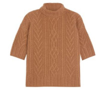Barbara cable-knit cashmere turtleneck sweater
