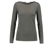 Cashmere And Silk-blend Sweater Armeegrün