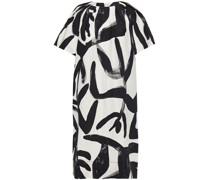 Maisie Kleid aus Webstoff mit Print und Ripsbandbesatz