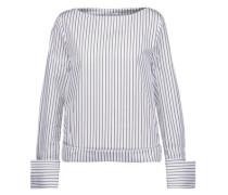 Lavarone striped cotton-poplin top