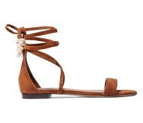 Nellie Verzierte Sandalen aus Veloursleder