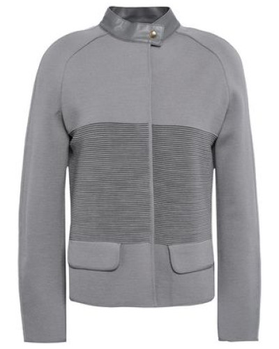Paneled Wool Jacket Gray