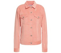 Jacke aus Baumwollcord mit Stickereien