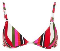 The Lulu Triangel-bikini-oberteil mit Streifen
