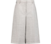 Wool and linen-blend culottes