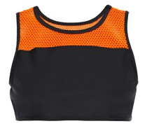 Rotation Versatility Mesh-paneled Stretch Sports Bra