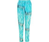 Bemini printed voile straight-leg pants