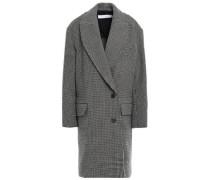 Woman Quip Houndstooth Wool-felt Coat Dark Gray