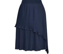 Flame Layered Plissé-crepe Skirt