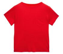 Woman Pima Cotton-jersey T-shirt Red