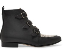 Marlin paneled leather ankle boots