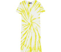 Tie-dyed Slub Pima Cotton-jersey Mini Dress