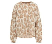 Pullover aus Einer Alpakamischung mit Leopardenprint