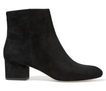 Gabbie Suede Ankle Boots Schwarz