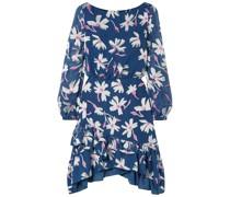 Felicia Ruffled Fil Coupé Silk-blend Chiffon Mini Dress