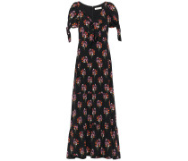 Ophelia Knotted Floral-print Silk Crepe De Chine Maxi Dress