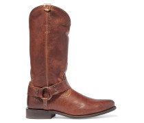 Wyatt Distressed Leather Boots Brown
