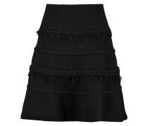 Fringe-trimmed Wool And Cashmere-blend Mini Skirt Schwarz