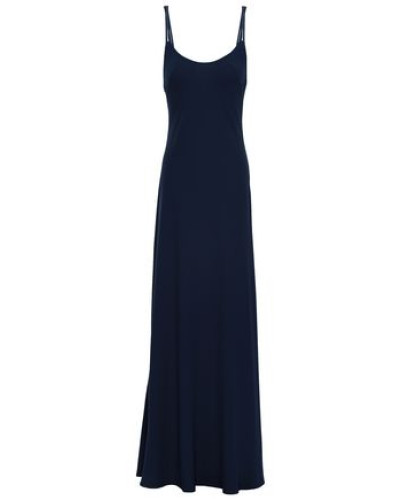 Open-back Crepe Gown Midnight Blue