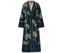 Nomos Belted Metallic Chenille-jacquard Coat