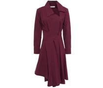 Asymmetrisches Kleid aus Jacquard aus Einer Baumwollmischung mit Falten