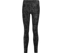 Hannah Printed Cotton-blend Jersey Leggings Grau