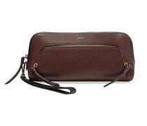 Greenwich Leather Clutch Burgunder