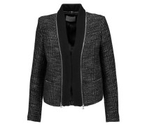 Verde Metallic Tweed Jacket Schwarz