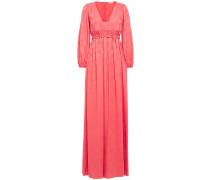 Gathered Jacquard Maxi Dress