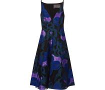 Organza-trimmed Fil Coupé Dress Lila
