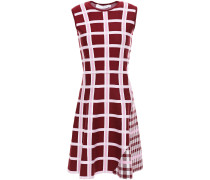 Flared Checked Wool-blend Jacquard Mini Dress