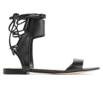 Kiddie Lace-up Leather Sandals Schwarz