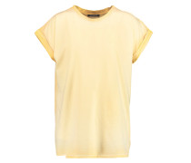 Cotton-jersey T-shirt Pastellgelb